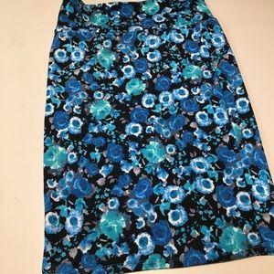 Lularoe Cassie Pencil Skirt Watercolor Floral